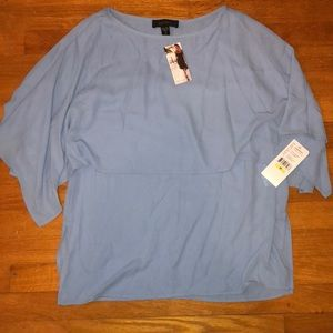BNWT KAREN KANE Womans Blue Blouse SZ.M(955